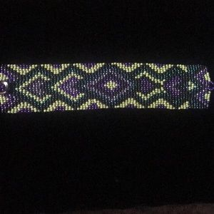 Handmade Native American Patterned Bracelet